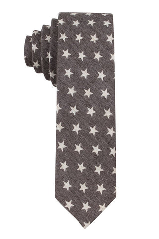 Skinny Tie Madness Grey Star Crossed Tie