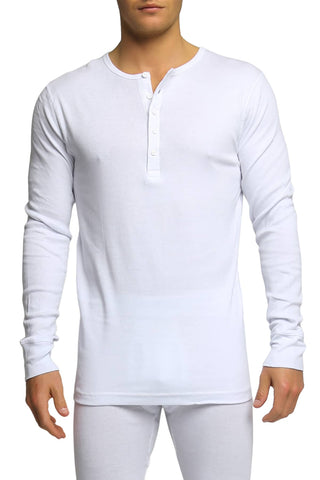 2(X)IST White Essential Long Sleeve Henley