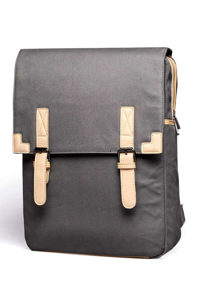 Something Salty Grey Canvas Back Pack