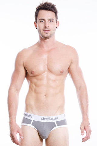 CheapUndies Grey Cotton Brief