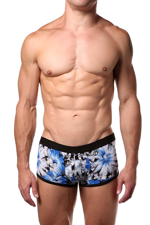 JustinCase Blue/Grey Floral Trunk - CheapUndies.com