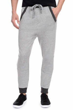 2(X)IST Light-Heather-Grey French Terry Drop Inseam Jogger Pant
