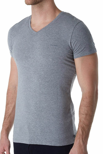 Diesel Grey Michael V-Neck T-Shirt - CheapUndies.com