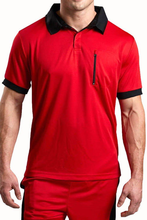 Body Tech Red/Black Motion Polo Shirt - CheapUndies.com