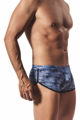 Pikante Blue 70's Gym Short Style Boxer Brief