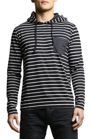 Do Nothing Charcoal Jailbird Joey Hooded Shirt