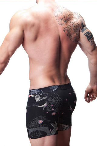 Alexander Cobb Black Koi Tattoo Boxer Brief