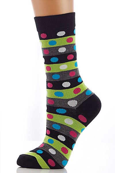 Lucci Black Points Crew Sock