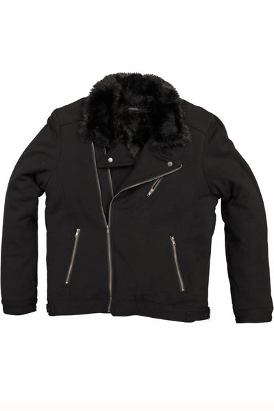 Arsanal Black Asymmetric Motorcycle Jacket - CheapUndies.com
