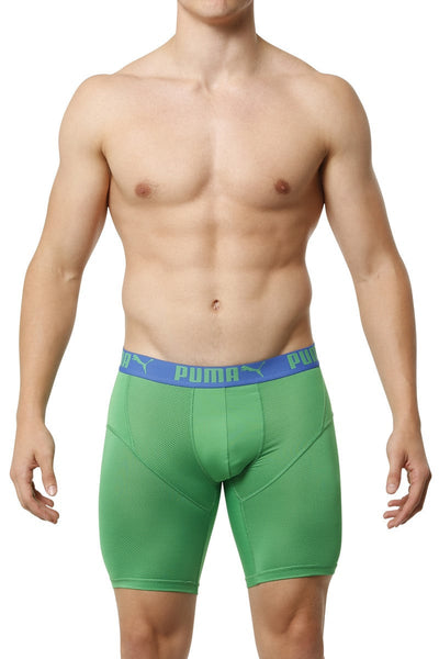 Puma Green Perforated Long Sport Trunk