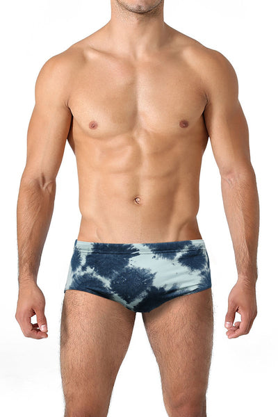 C-IN2 Green Swarm Blurr Brazilian Square Cut Swim Brief