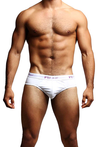 FU E=FU8 White Pleasure Pouch Brief