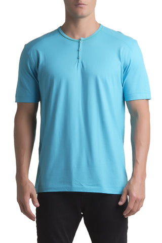 C-IN2 Scuba Blue Pop Short Sleeve Henley
