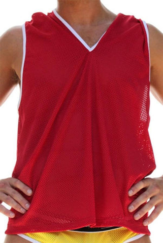 Rufskin Red Pavel Mesh Sleeveless Hoodie