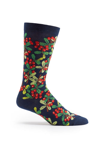 Ozone Navy Grapes of Wrath Calf Sock