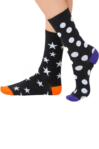 Lucci Black Star Crew Sock