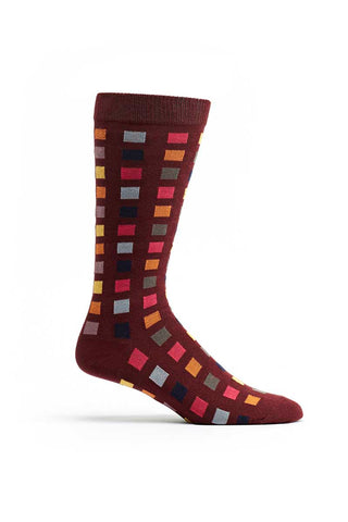 Ozone Red Square Flair Crew Sock