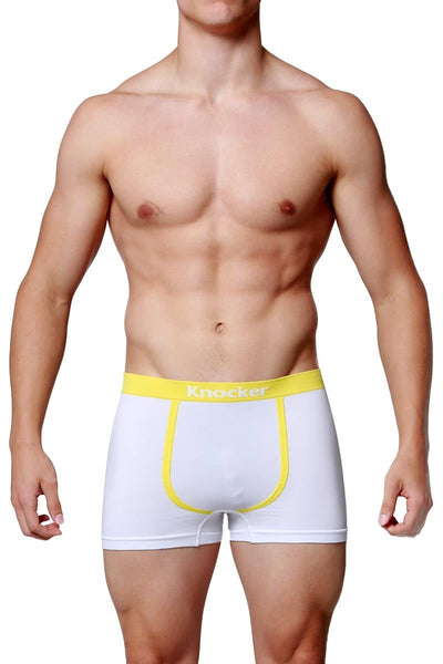 Knocker White Contrast Piping Seamless Trunk