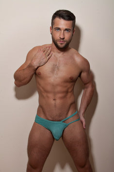 CheapUndies Green Exposed Brief