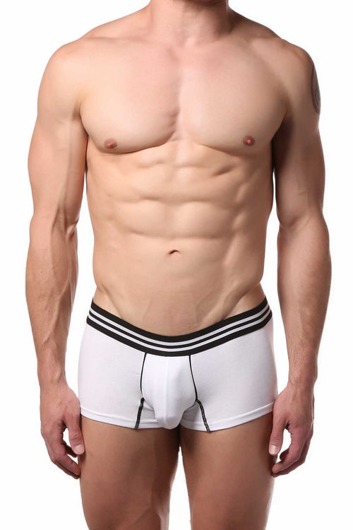Doreanse White Low-Rise Motion Trunk - CheapUndies.com