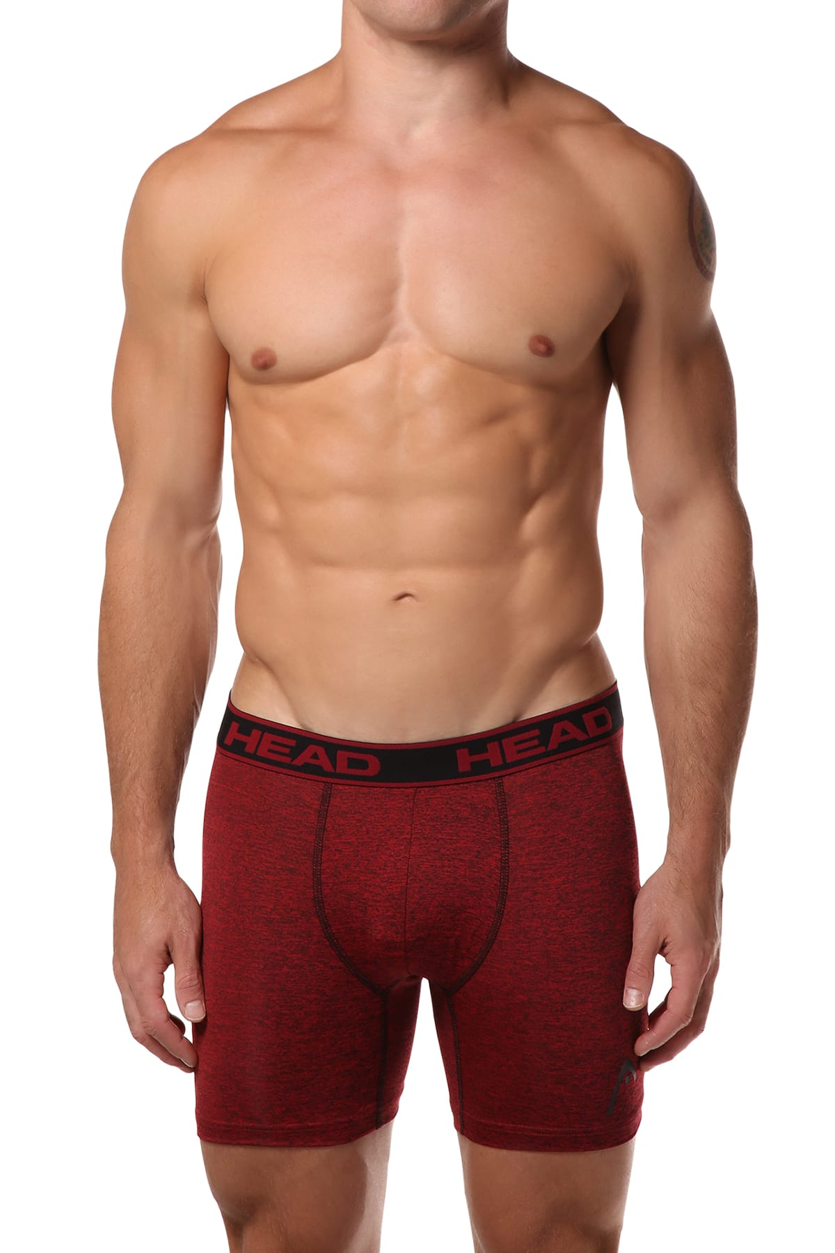 Head Red Marl Boxer Brief