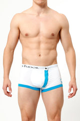 James Tudor Turquoise & White Magnetic Boxer Brief