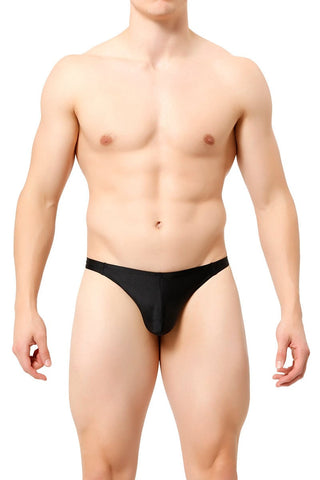 Manview Black Swim Thong