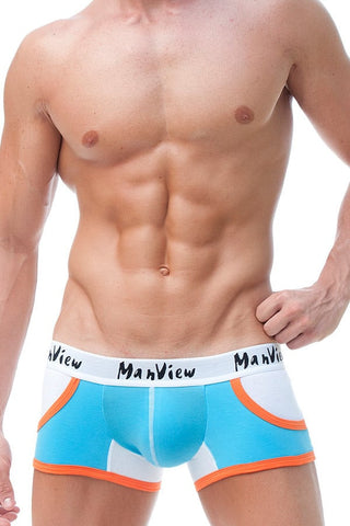 Manview Light Blue Sport Pocket Trunk