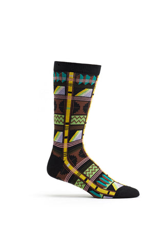 Ozone Black Asonawo Elements Calf Sock