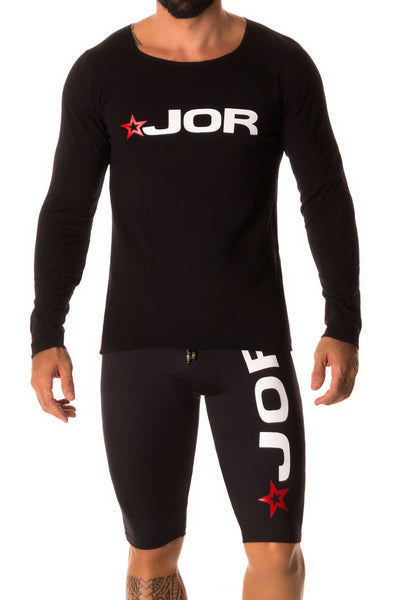 Jor Black Logo Long Sleeve T-Shirt - CheapUndies.com