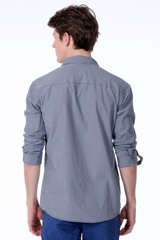ONE90ONE Grey Gingham Button-Up