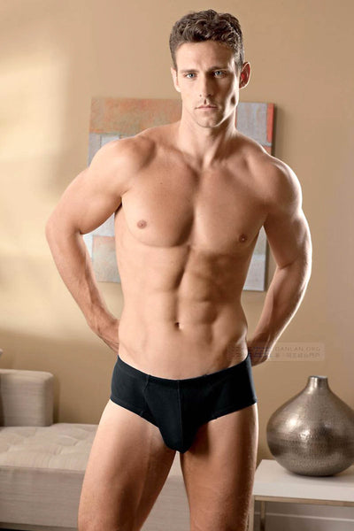 Contour Black Rib Basic Brief - CheapUndies.com