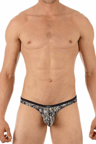 Gregg Homme Tiger Print Sheer Thong