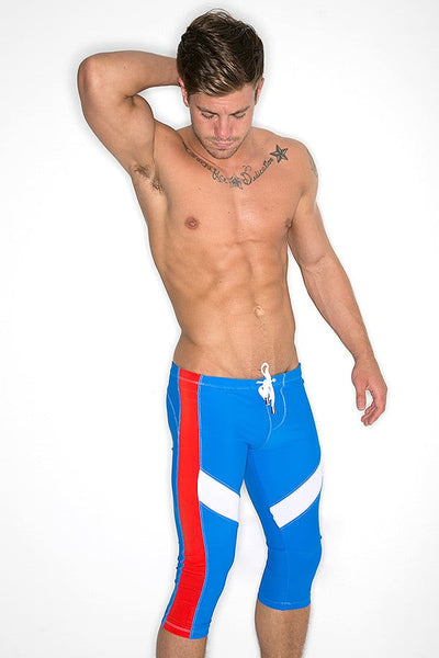 CheapUndies Blue & Red Performance Capris
