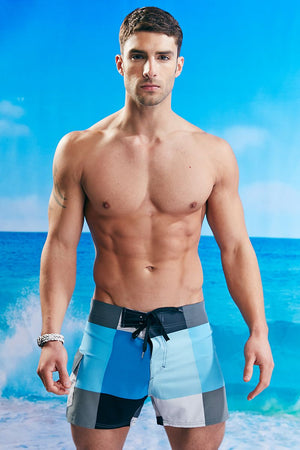Body Tech Blue & Grey Prism Board Short
