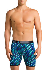 Balanced Tech Blue & Black Performance Boxer Brief