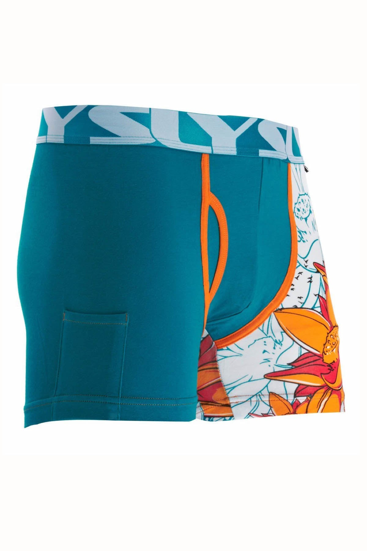 Sly Blue Lotus Boxer Brief