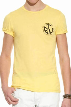 Rxmance Unisex Yellow Circle Ten Crew Tee
