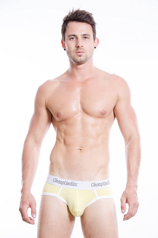 CheapUndies Yellow Cotton Brief
