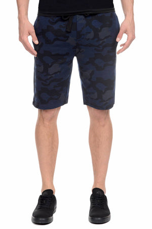 2(X)IST Blue-Camo French Terry Short