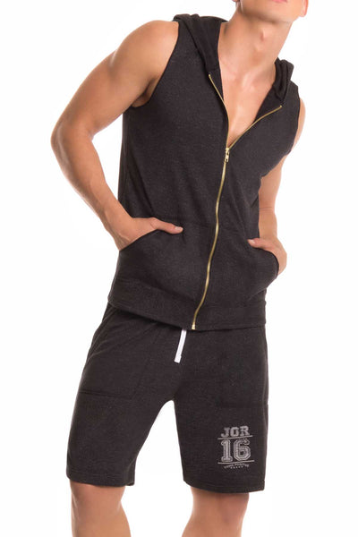 Jor Black Fighter Hoodie - CheapUndies.com