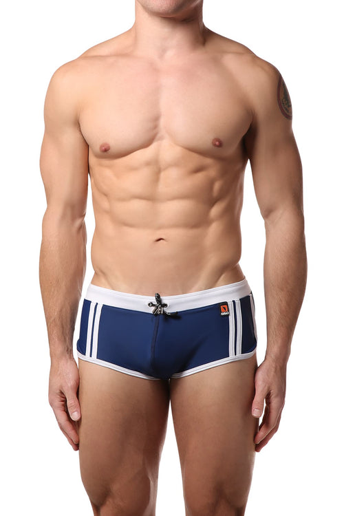 Gigo Blue & White SES Active Swim Boxer - CheapUndies.com