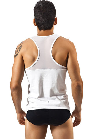 Clever White Exhibit Tank Top