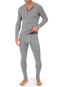 2(X)IST Grey Tartan Long Underwear