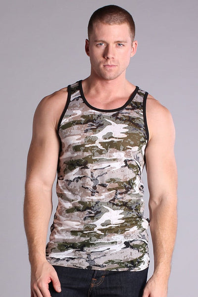 Timoteo Green Burnout Tank Top