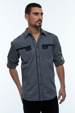 Young Republic Navy & White Hayden Button-Up
