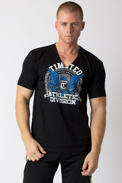 Timoteo Black Eagle V-Neck Tee