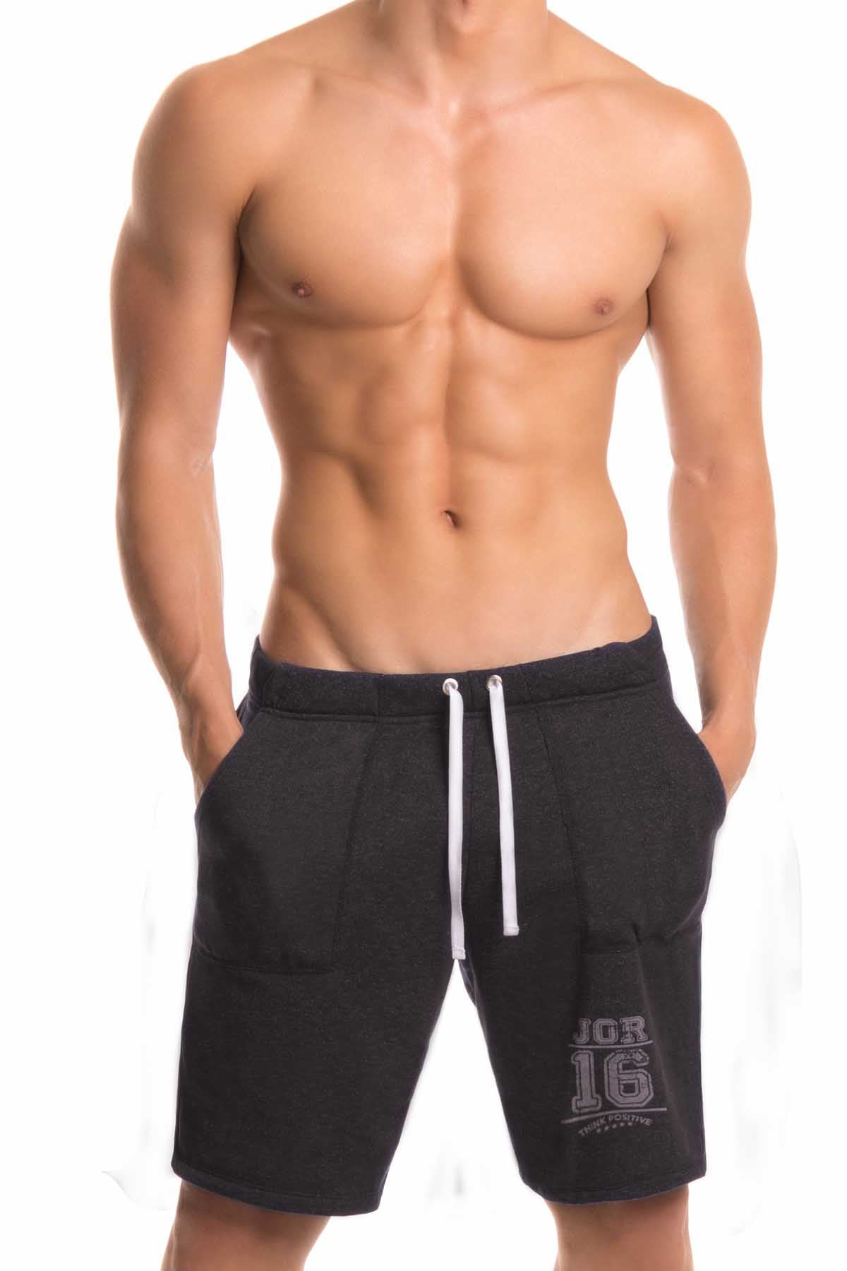 Jor Black Long Fighter Short