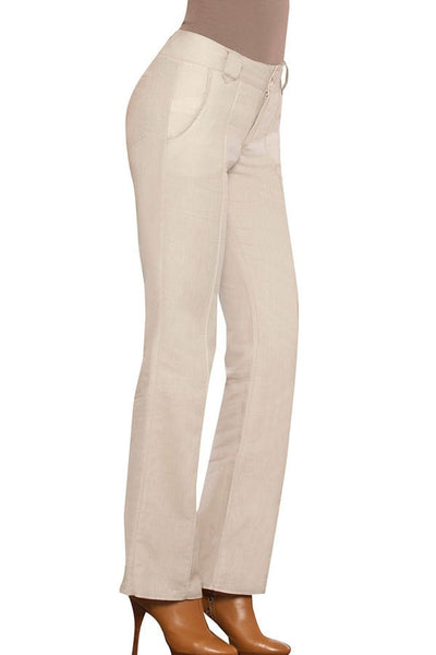 Fiory Beige Flared Florentina Trouser