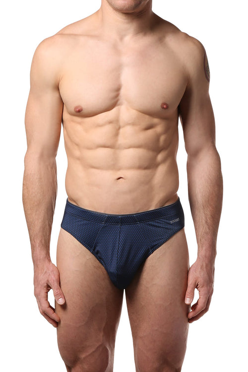 2(X)IST Black/Royal Atom-Print Sliq Micro Brief - CheapUndies.com